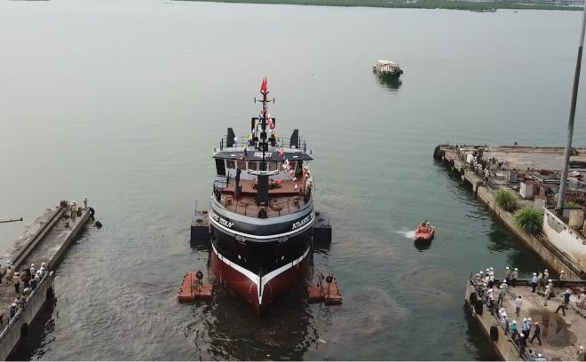 Hạ thủy tàu cá SBA 01 mang tên Atlantic Titan
