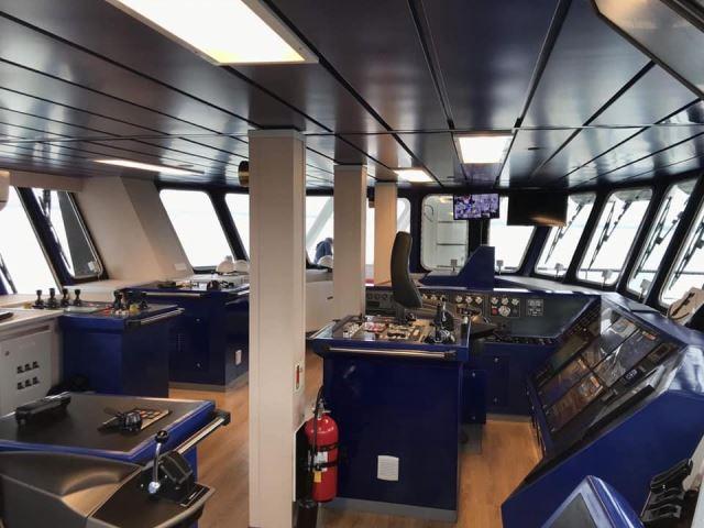 Trang thiết bị trong cabin tàu.